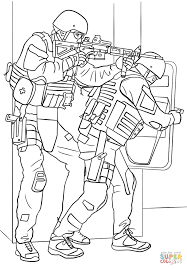 fbi swat team coloring page free printable coloring pages
