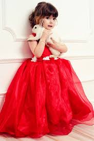red ball gown dresses for kids weddings eve