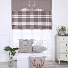 Roman Shades Valance Awesome Plaid Roman Shades And Vintage Londown Plaid Burgundy