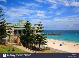 cottesloe beach and indian tea house perth western australia stock