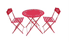 Metal Bistro Chairs Amazon Com Alpine Msy100a Rd Metal Bistro Set With 2 Chairs Red