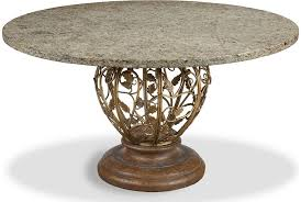 venezia dining table pedestal from the gourmet dining collection