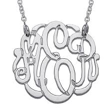 script monogram necklace personalized script monogram necklace jcpenney