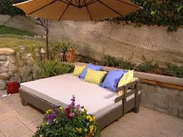 Build Wooden Patio Furniture by Build An Outdoor Daybed Hgtv