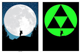 glow in the dark poster i made a glow in the dark zelda poster gaming