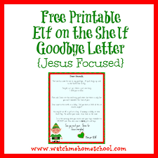 Printable Santa List Templates Free Elf On The Shelf Goodbye Letter That Is Jesus Centered