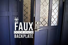 kitchen cabinet door handles with backplate how to make a faux door knob backplate diy hometalk