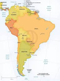 Map Of South Vector Map Of South America Political One Stop Map