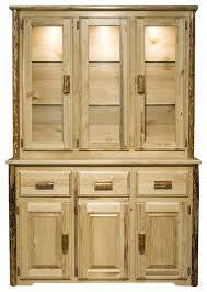 Glacier Cabinets Montana Collection China Hutch Rustic China Cabinets And