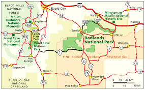 Map Of Custer State Park by Badlands Maps Npmaps Com Just Free Maps Period