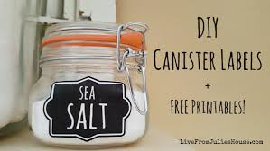 kitchen canister labels diy canister labels free printables live from julie s house