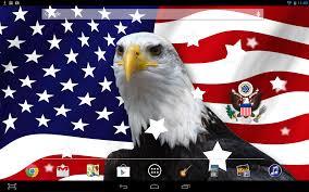 Bald Eagle On Flag Usa Flag Live Wallpaper Android Apps On Google Play