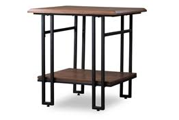 Wood And Metal End Table Chicago End Tables Chicago Living Room Furniture Chicago Furniture