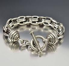silver rope chain bracelet images Vintage sterling silver rope chain toggle bracelet boylerpf jpg