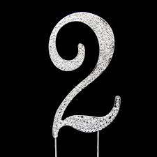 rhinestone number cake toppers number 2 rhinestone cake topper wedding cake toppers wedding