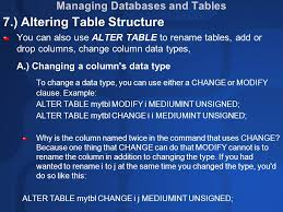 Alter Table Drop Column Chapter 5 Mysql Database Introduction To Mysql Mysql Is The
