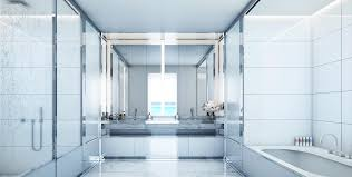 white bathrooms home design