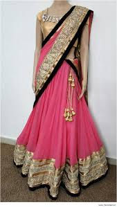 half saree designs is the traditional costume in the south indian