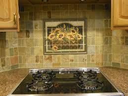 decorative backsplashes kitchens decorative tile backsplash kitchen tile ideas sunflower basket