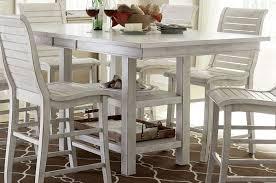 progressive furniture willow counter height dining table progressive furniture willow distressed white rectangular counter