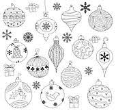 clip art of christmas ornaments k15803767 search clipart