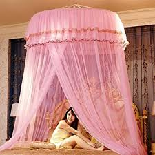 Lace Bed Canopy Beautylife66 Dome Mosquito Net Lace Bed Canopy Netting Pink