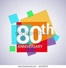 60 years anniversary 80th anniversary logo 80 years anniversary colorful vector design
