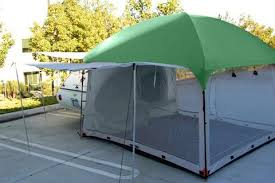 10x10 side mount screen room tent by pahaque u2013 teardropshop com