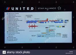 Dulles Terminal Map Lcd Monitor Showing Layout Of Washington Dulles Airport Terminals