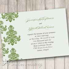 green wedding invitations green damask rustic wedding invitations iwi290 wedding