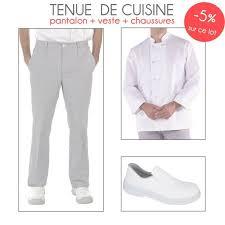 tenu professionnelle cuisine lot de cuisine blanc mixte veste pantalon chaussures de