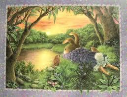 susan wheeler cards susan wheeler pond hill bunny rabbit sunset thinking of you