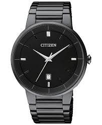 black bracelet mens watches images Citizen men 39 s quartz black ion plated stainless steel bracelet tif