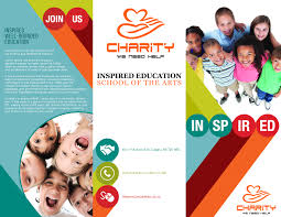 ngo brochure templates tri fold charity brochure print artwork tri fold