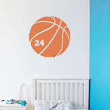 basketball number wall art decal