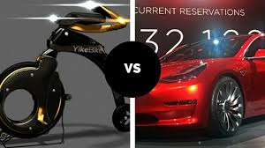 electric commuter bike vs tesla model 3 which one is more