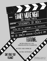 Park Flyers Backyard Flyers by Pta Movie Night Flyer Template Family Movie Night Fifth Grade