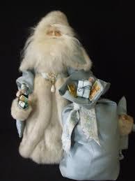 Santa Claus Dolls Handmade - angie s unique creations santa wearing a mink fur coat santa