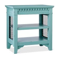 Blue Changing Table Arman Distressed Side Table Blue Beekman 1802 Farmhouse Target