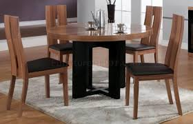 modern round dining room tables walnut finish modern round dining table w optional items
