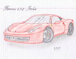 ferrari sketch side view drawn ferrari nice car pencil and in color drawn ferrari nice car