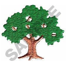 oak tree embroidery design from great notions grand slam designs
