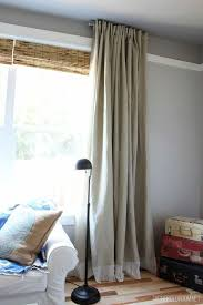 Curtain Patterns To Sew Easy Diy No Sew Embellished Ikea Curtain Panels The Inspired Room