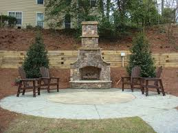 Backyard Pavers Ideas Decor Best Outdoor Patio Ideas With Winsome Unilock Fireplace