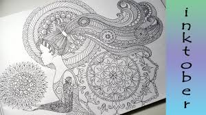 doodle with pattern hair zendales zentangle style youtube