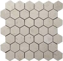 hexagon carrara from 8 95 square marble mosaic tiles
