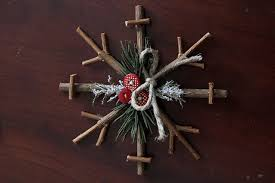 tree upcycling ideas rustic snowflake decor ted