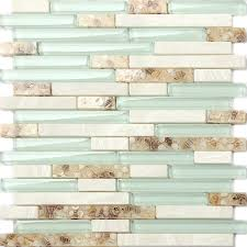 5 sq feet interlocking backsplash glass tile iridescent kitchen