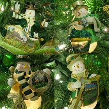 thomas kinkade irish snowman christmas tree ornaments amazing