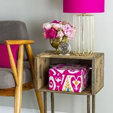 Wooden Crate Nightstand Crate Diy Gallery Craftgawker